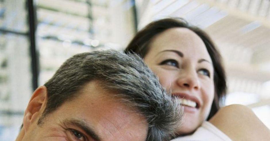 kobieta, ciąża, tata, mama, uśmiech