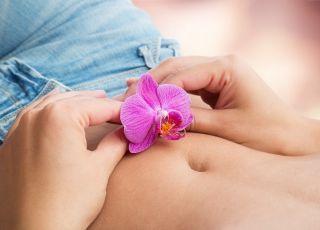kobieta, higiena intymna, kwiatek