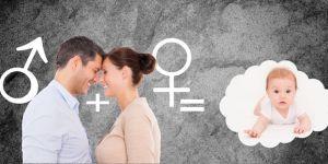 Kobieta i mężczyzna myślą, jak będzie wyglądało ich dziecko