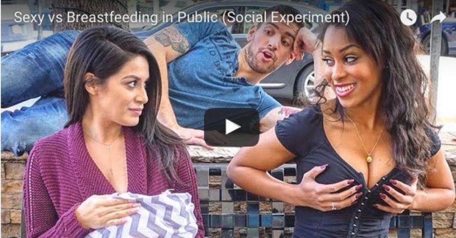 Kobieta karmiąca piersią publicznie kontra seksbomba