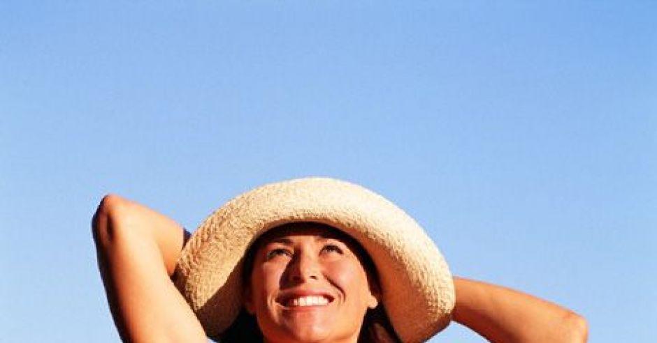 kobieta, lato, plaża, morze, brzuszek, ciąża