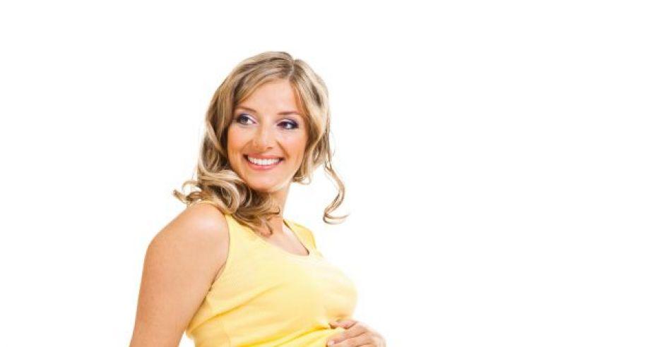 kobieta, mama, ciąża, brzuszek, piłka, ćwiczyć