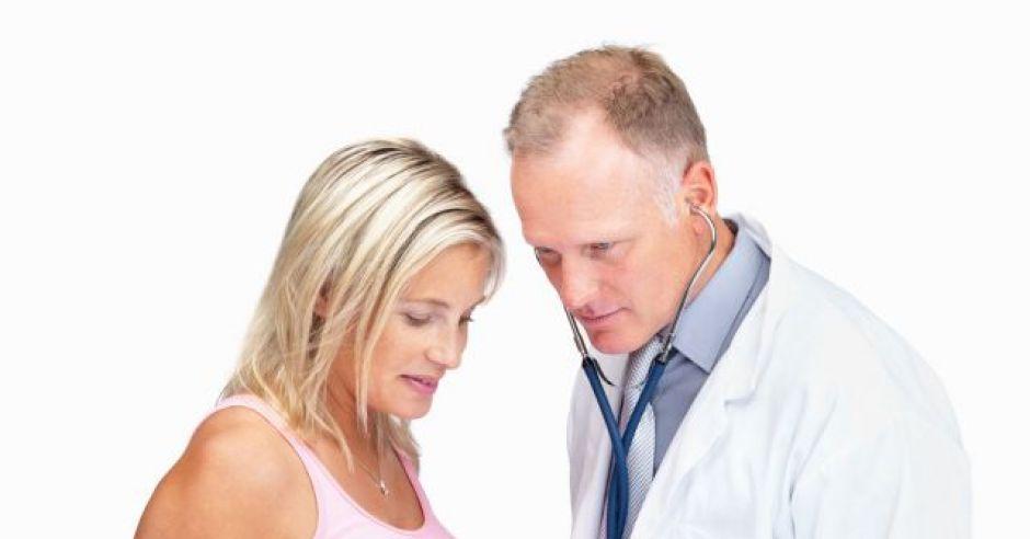 kobieta, mama, ciąża, lekarz, badanie