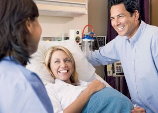 kobieta, mama, ciąża, tata, szpital, lekarz, badanie