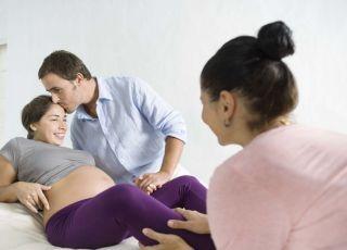 kobieta, mama, mężczyzna, tata, ciąża