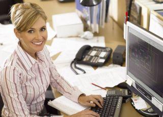 kobieta, mama, praca, komputer
