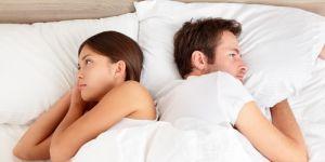 kobieta, mężczyzna, łóżko, seks