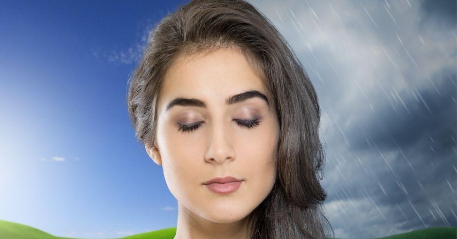 kobieta, meteopatia, pogoda, zmiany pogody