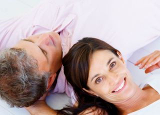 kobieta, mężczyzna, łóżko, miłość
