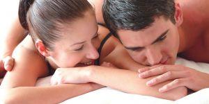 kobieta, mężczyzna, sex, łóżko