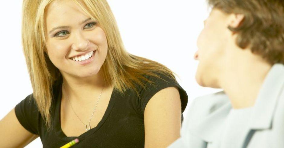 kobieta, praca, rozmowa