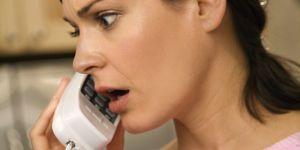 kobieta, telefon