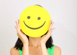 kobieta, uśmiech, radość