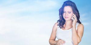 Kobieta w ciąży ból