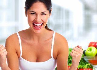 kobieta, warzywa, siła, zdrowie