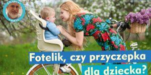 Kobieta z dzieckiem na rowerze