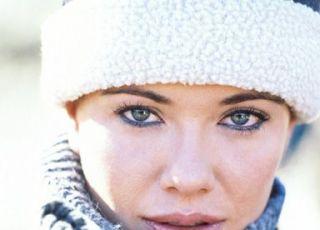 kobieta, zima, czapka