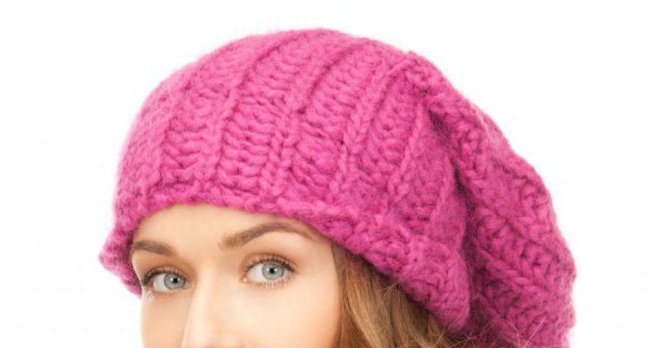 kobieta, zima, czapka, szalik