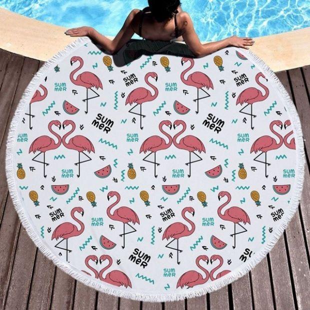 koc plażowy ręcznik we flamingi 150 cm średnicy najmodniejszy aliexpress.pl.jpg
