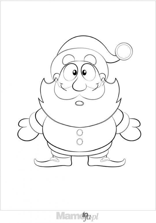 Święty Mikołaj  - kolorowanki Boże Narodzenie