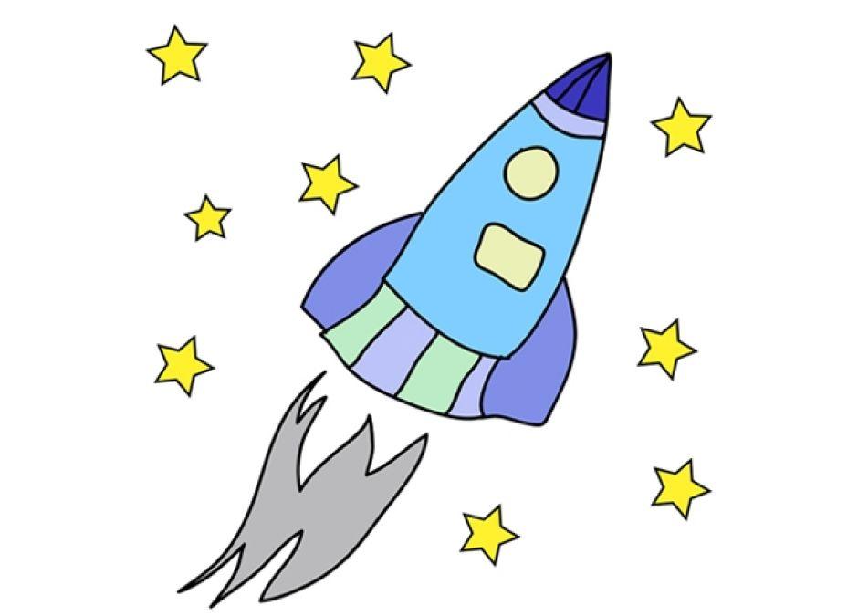 kolorowanka rakieta