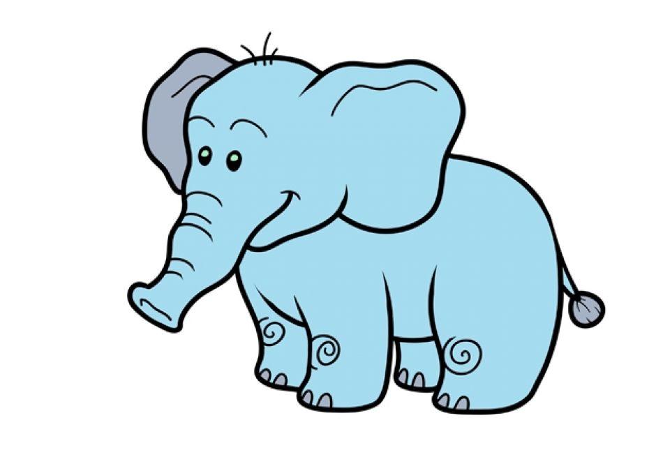 kolorowanka słoń