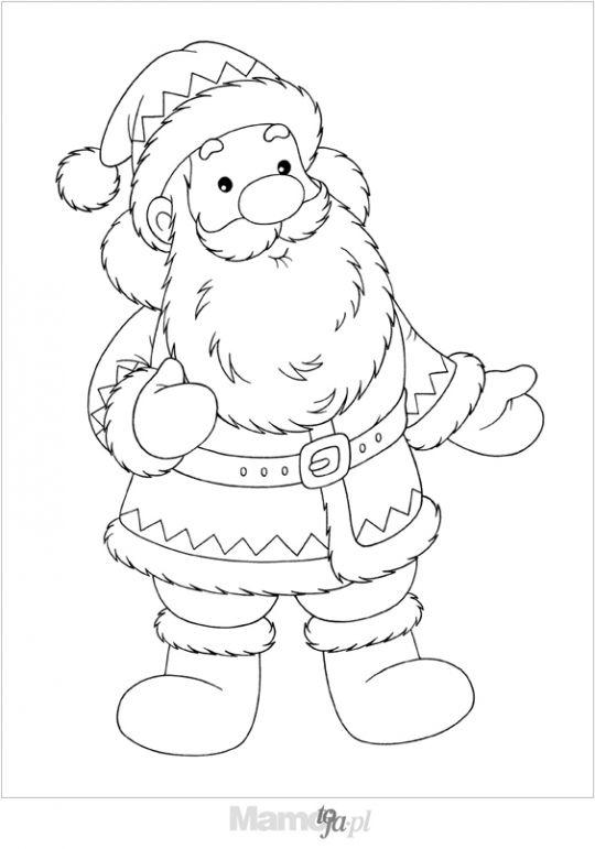 Święty Mikołaj kolorowanka