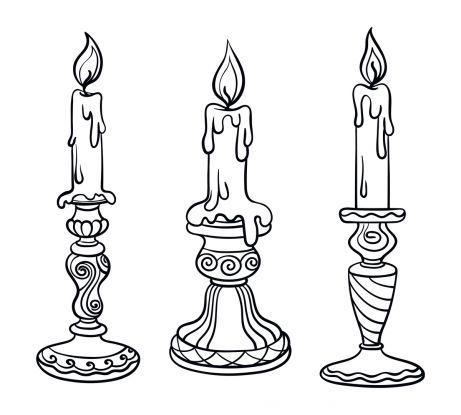 kolorowanki na andrzejki - świece