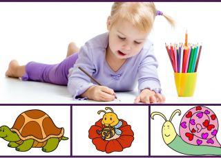 Kolorowanki ze zwierzątkami dla malucha - do druku