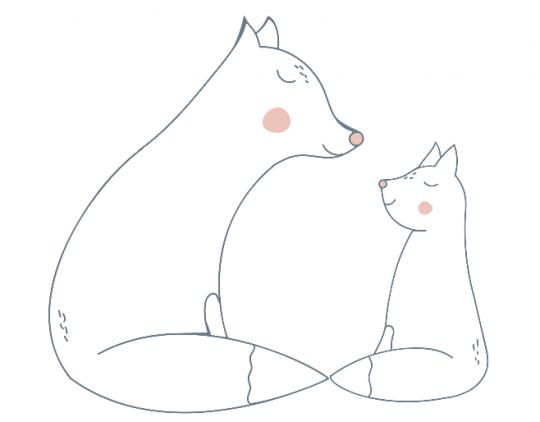 kolorowanki dla mamy z liskami