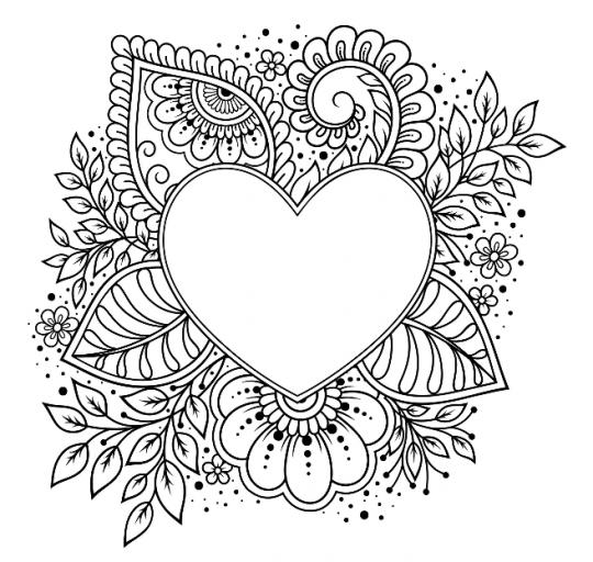 kolorowanki dla mamy misterne serce