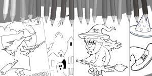 Kolorowanki do wydruku na Halloween