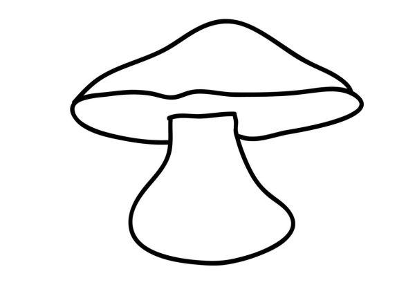 kolorowanki grzyby - szablon