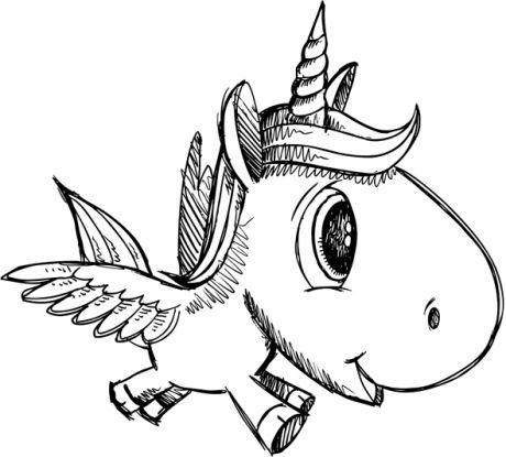jednorożec kolorowanka - oryginalny wygląd