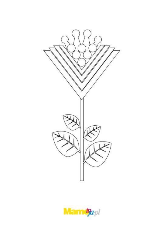 kolorowanka kwiat geometryczny