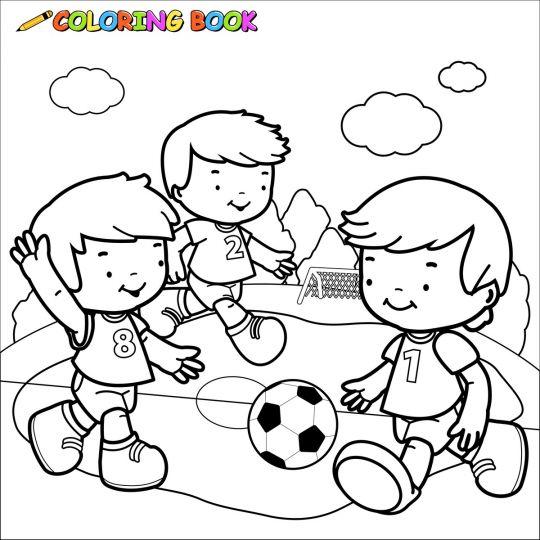 piłka nożna: kolorowanka do druku