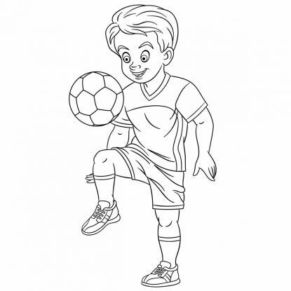 kolorowanki piłkarskie: profesjonalny piłkarz