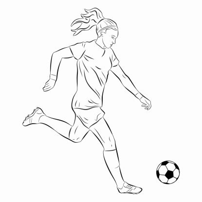 kolorowanki piłkarskie: profesjonalna piłkarka