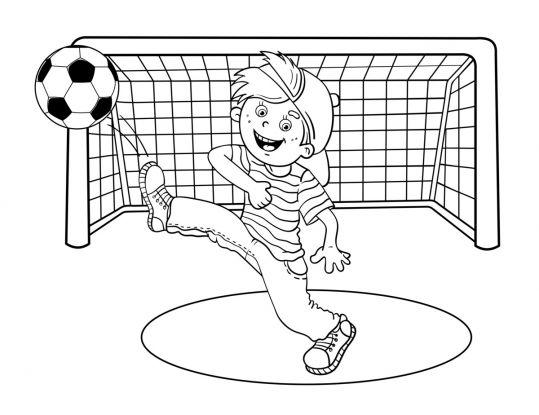 kolorowanki piłkarskie: radosny bramkarz