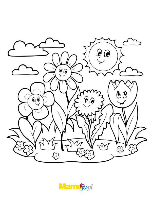 Wiosna Kolorowanki Do Druku Strona 7 Mamotoja Pl