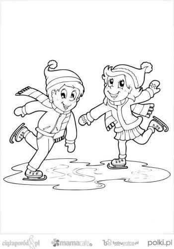 Zimowe Kolorowanki Dla Dzieci Mamotoja Pl