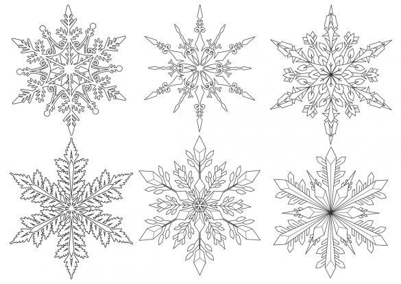 kolorowanki zima: śnieżynki
