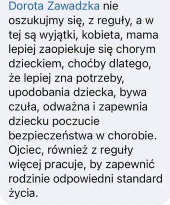 Żródło: Facebook/Dorota Zawadzka