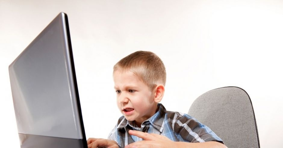 komputer, Internet, dziecko