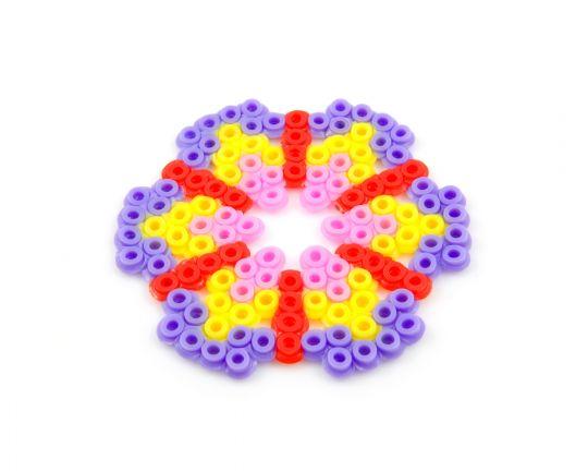 wzór kwiat z koralików do prasowania