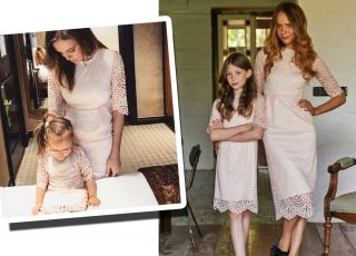 koronkowe sukienki dla mamy i córki