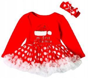 Czerwona sukienka świąteczna