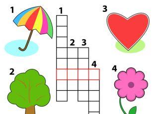 krzyżówka, krzyżówka dla dzieci, angielski dla dzieci, nauka angielskiego
