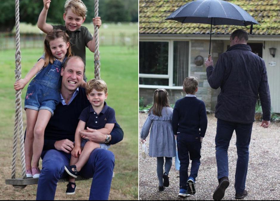 książę William, książę William z dziećmi