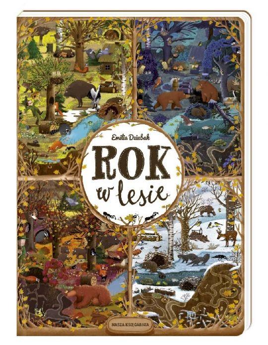 Książka dla 3-latka: Rok w lesie